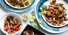 Slow-cooked beef short rib tacos