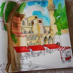 Istanbul sketch Watercolor, liners, pencils, Leuchtturm1917 @juliasavushkina