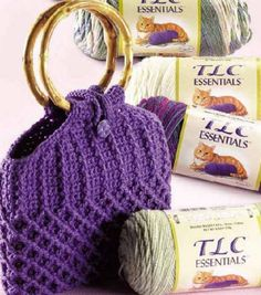 Lovely free bag pattern from Joanns. On the web page it says it's knitted, but when you download the pattern its all crochet so don't worry.