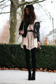 Black tights make summer dresses winter appropriate.