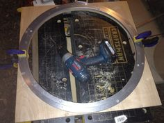 10) Bearing in place on the backing mount.