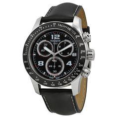 Tissot Sport V8 Black Dial Black Leather Men's Watch T039.417.16.057.02