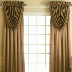 Jcpenney Curtains And Drapes - We need to know exactly how we respond to light we consider dressing a window. The senses o Cute Curtains, Drapes Curtains, Drapery, Green Bedroom Paint, Waterfall Valance, Tuscan Style Homes, Tuscan Decorating, Velvet Curtains