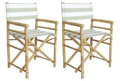 Outdoor Director's Chairs, Pair