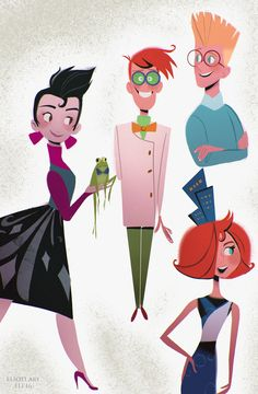 """elioli-art: """" Some of these aren't the best, but whatevah! We both love Meet the Robinsons! (And the book too) It got us through some rough middle school days. I wanted to do all of the..."""