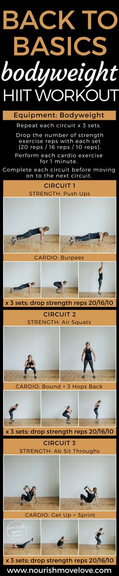 Back to Basics Bodyweight HIIT Workout | www.nourishmovelove.com