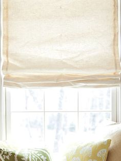 DIY - Roman Shade + Instructions on 'How To'