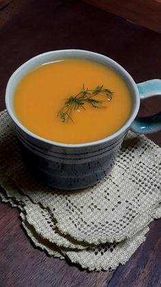 Creme de Cenoura, Batata-Doce e Gengibre