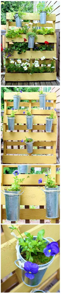 DIY Pallet Project : Small Space Flower Garden