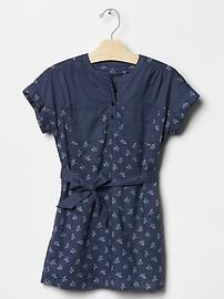 Mix-print belted dress