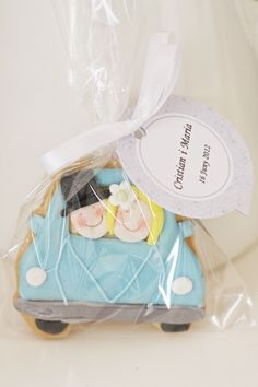 Just Married Wedding cookie favors