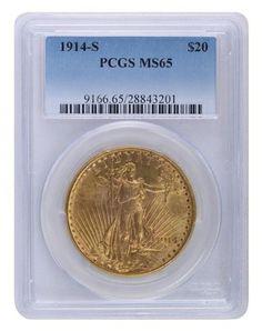 1914-S PCGS MS65 Saint Gaudens $2420.00
