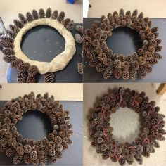 DIY Pine Cone Heart - Pine Cones are a great material for wreaths. Online source and sale of pine cones and pine needles. Pine cones for crafts, art and decor. Heart Shaped Pine Cone Wreath Rustic decor Wreath by F White Christmas Tree Decorations, White Christmas Trees, Pine Cone Decorations, Beautiful Christmas, Christmas Tablescapes, Christmas Centerpieces, Christmas Wreath Image, Christmas Wreaths To Make, Christmas Crafts