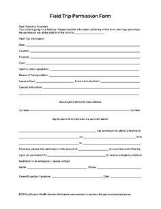 35 Editable Permission Slip Templates Education Pinterest
