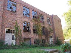 Abandoned school in Trimble, Ohio- Athens County.