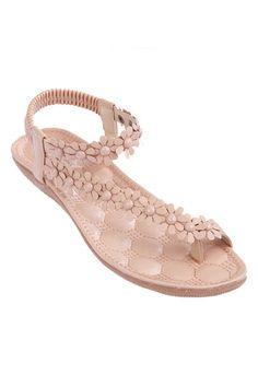 ROMWE | ROMWE Floral Shaped Elastic Fashion Sandals, The Latest Street Fashion