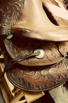 A Cowgirl loves her saddles like a Fashionista loves her shoes.