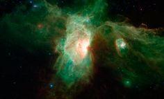 Image: Horsehead nebula viewed in infrared
