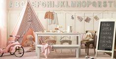Shabby chic playroom, love!