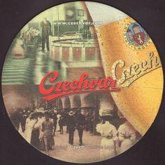Beer coaster budvar-162 Beer Mats, Beer Coasters, Brewery, Drink, Beverage, Drinking