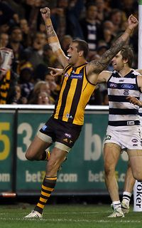 September 22 - Made Me Smile - Hawks win! Lance Franklin and the Hawks get another chance to add to their 2008 premiership success this coming weekend.
