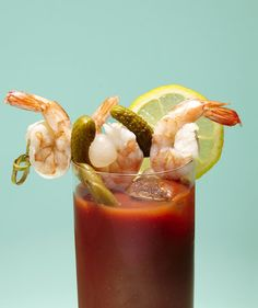 5 Amazing Bloody Mary Garnishes | No one's complaining about a lemon wedge and celery stick. But once you have your Bloody Mary recipedown pat, why not try taking the classic up a notch with these five combinations? Just make sure to stock up on long, sturdy toothpicks first.