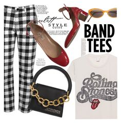 """""""I'm With the Band: Band T-Shirts"""" by indhrios ❤ liked on Polyvore featuring Victoria, Victoria Beckham, MadeWorn, Jacquemus and Yohji Yamamoto"""