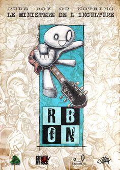 affichette réalisée pour rbon (illus Kinglizard et Diway) Demain, dernier jour de l'expo à Villejuif (le Chêne)