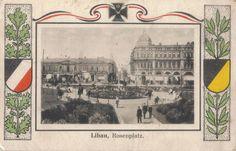 Rosenplatz 1915g. Libau Postcard.