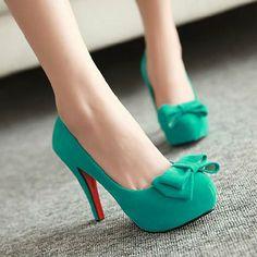 Sweet Bowknot High Stiletto Heel Platform Shoes Pump [grxjy5190554]