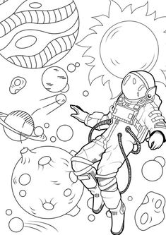Space Coloring Pages, Moon Coloring Pages, Printable Adult Coloring Pages, Disney Coloring Pages, Coloring Pages To Print, Coloring Pages For Kids, Free Coloring, Coloring Books, Tumblr Coloring Pages