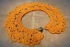 Crocheted Peter Pan Collar Necklace Detachable por DearDemure