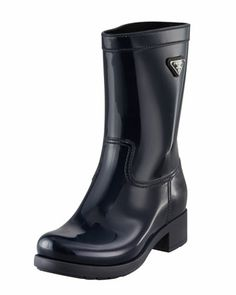 Rubber+Rain+Boot+by+Prada+at+Bergdorf+Goodman.