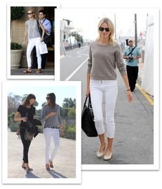 White topped with grey - fave summer go to outfit