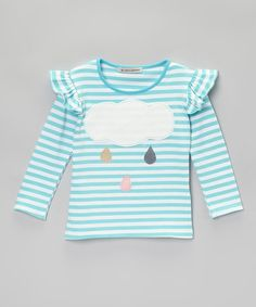 This Aqua Cloud & Drops Top - Infant, Toddler & Girls by Million Polkadots is perfect! #zulilyfinds