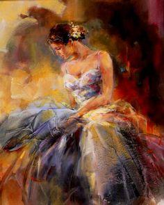 anna razumovskaya 5 - Romantic Paintings by Anna Razumovskaya Romantic Paintings, Beautiful Paintings, Art Triste, Art Ballet, Ballerina Art, Anna Razumovskaya, Inspiration Artistique, Dance Paintings, Portrait Paintings