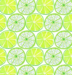 Pattern from 'Luscious Limes' series, Jocelyn Proust Designs Textile Prints, Textile Patterns, Textile Design, Decoupage, Cool Patterns, Print Patterns, Paper Design, Fabric Design, Fruit Pattern