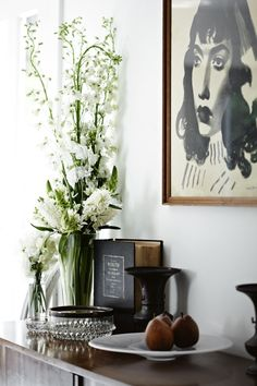 :: Havens South Designs :: loves a credenza styled with natural elements.