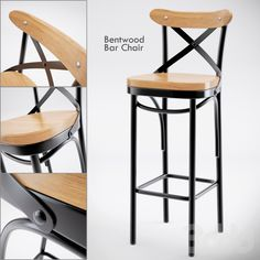 3d модели: Стулья - Dark Metal Bar Chair