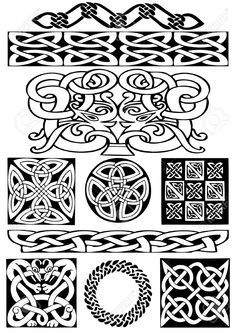 Celtic vector art-collection On A White Background. Royalty Free Stock Photo, clipart, illustrations. Image 5,960,438th