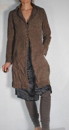 Hazel Brown — 13.1.15 waxed linen jacket