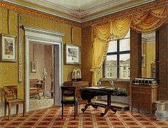 Biedermeier interior in Berlin, c. 1825, by Leopold Zielcke