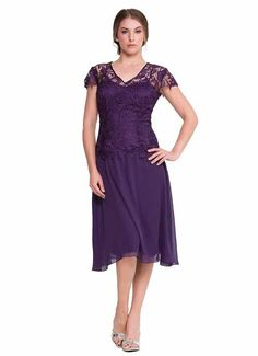 purple.mother+of+groom | ... plum plus size mother of the groom / bride dresses with short sleeves