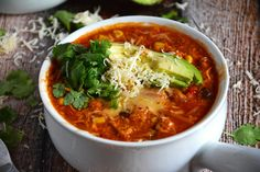 Chicken-Tamale-Soup- Has a yummy looking recipe for home made enchilada sauce.