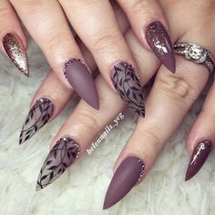 Best Stiletto Nails Designs, Ideas and Tips For You - - Glamorous Stiletto Nail Designs Youll Adore ★ See more: naildesignsjourna. Fancy Nails, Trendy Nails, Love Nails, Beautiful Nail Art, Gorgeous Nails, Nagellack Design, Gel Nagel Design, Cute Nail Designs, Stiletto Nail Designs