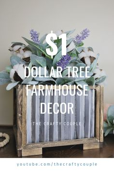 These Dollar Tree DIY's will save you money without sacrificing the high-end look. They're perfect for a wedding or just home decor. You won't be disappointed with these stunning farmhouse decor projects! Dollar Tree Fall, Dollar Tree Christmas, Dollar Tree Decor, Dollar Tree Store, Dollar Tree Crafts, Dollar Stores, Starter Set, Craft Night, Spring Crafts