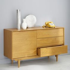 Scandinavian sideboard made of solid French oak Maisons du Monde Decor, Furniture, House Design, Interior, French Oak, Scandinavian Style, Scandinavian Style Sideboard, Solid Oak, Home Decor