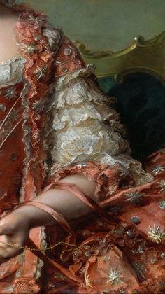 Jean Marc Nattier le Jeune, Madame Adelaïde #Art #Detail