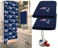 New England Patriots Deluxe Bath Set at SportsFansPlus.com