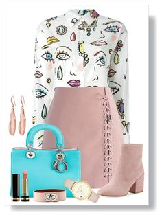 """Untitled #1721"" by ebramos ❤ liked on Polyvore featuring Boutique Moschino, Chicwish, Sam Edelman, Christian Dior, Gucci, Robert Lee Morris, Kate Spade and Givenchy"
